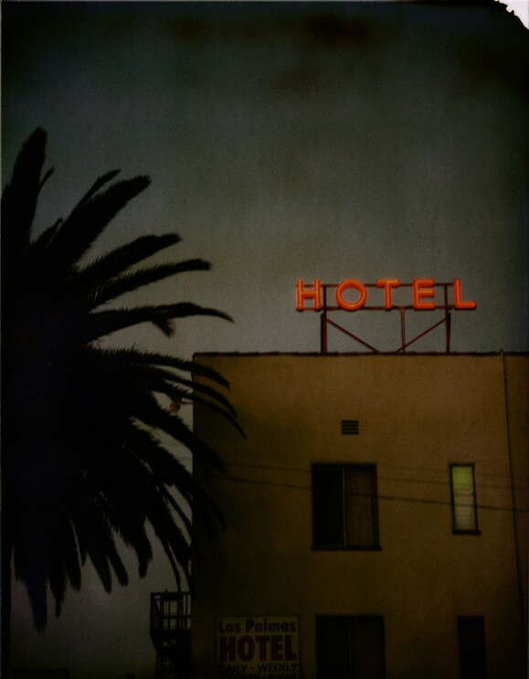Las Palmas Hotel, Hollywood, 1998. T-59 4 x 5 Polaroid. | Photo: Jim McHugh.