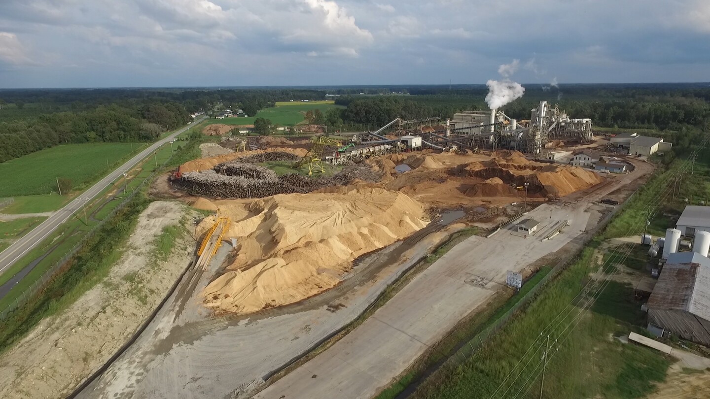 "Enviva Pellet Plant in Ahoskie, NC. | Still from ""Burned"""