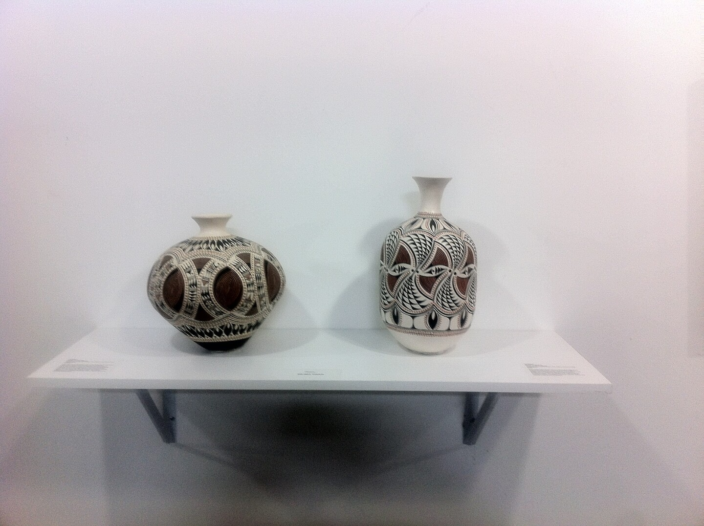 """Rowan D. Harrison pottery at """"First Peoples: A Celebration of Native Artists in Southern California"""""""