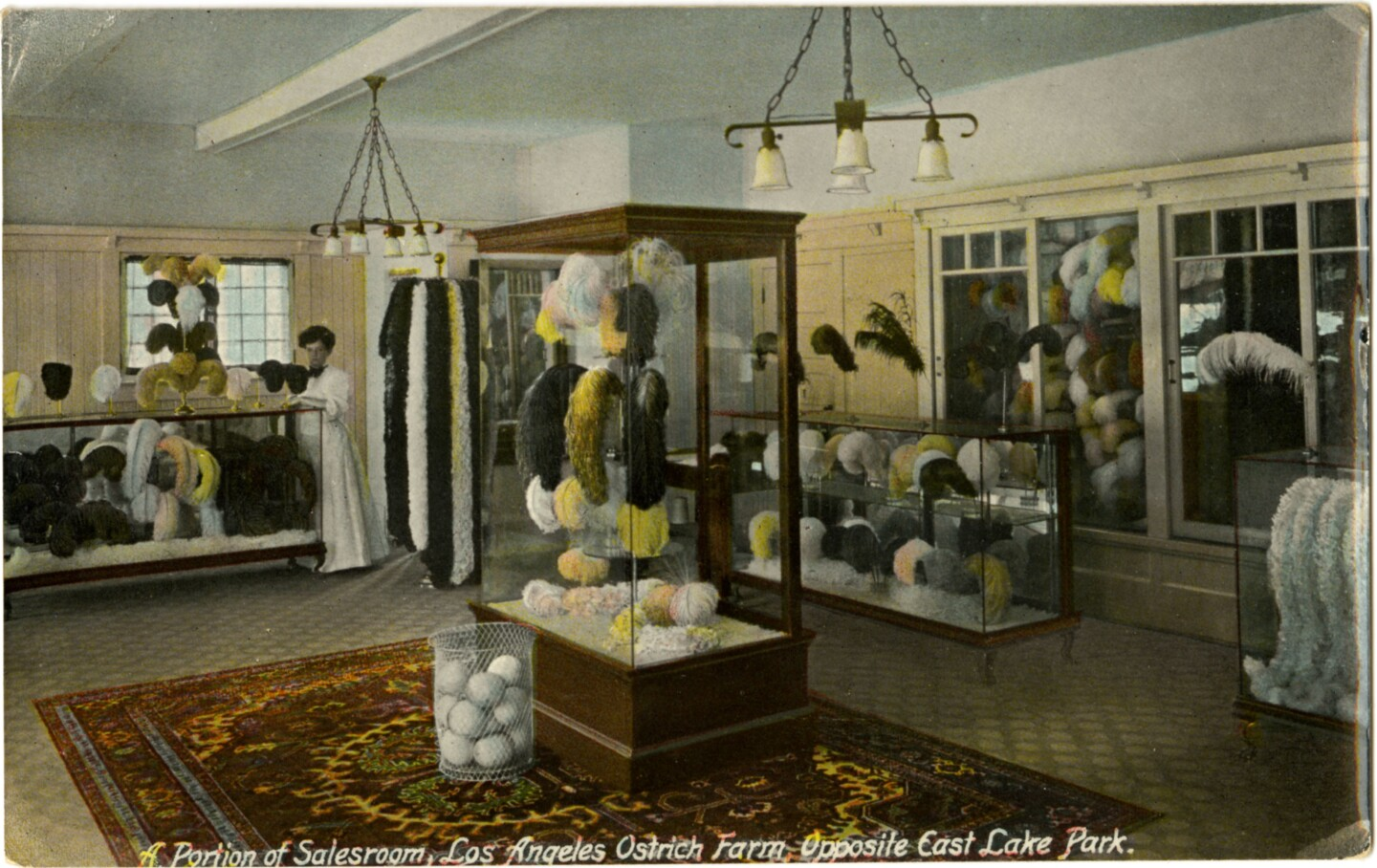 Gift shop receipts augmented the farms' admission fees. Circa 1910 postcard courtesy of the  Werner Von Boltenstern Postcard Collection, Department of Archives and Special Collections, William H. Hannon Library, Loyola Marymount University.