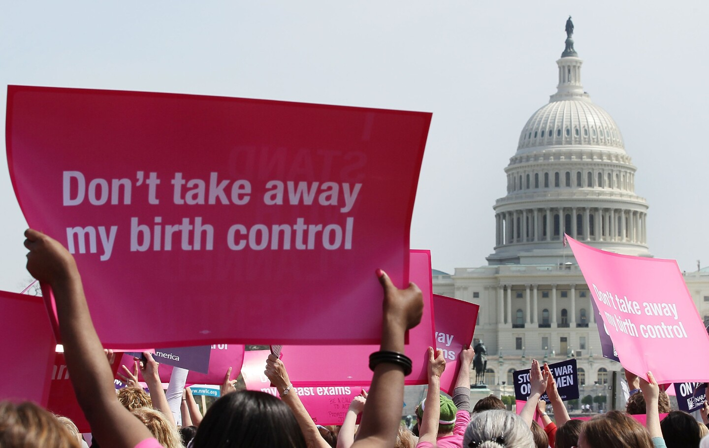 Planned Parenthood rally in Washington, DC