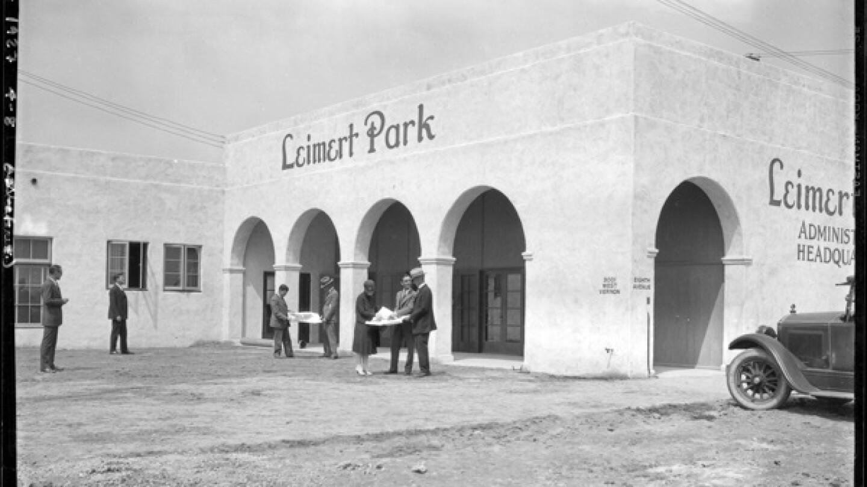 Leimert Park sales office, 1927 | Dick Whittington Studio, Courtesy of the USC Digital Library