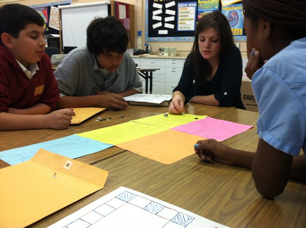 Junior Design Camp participants playtest a peer's career game. | Photo: E. Swensen