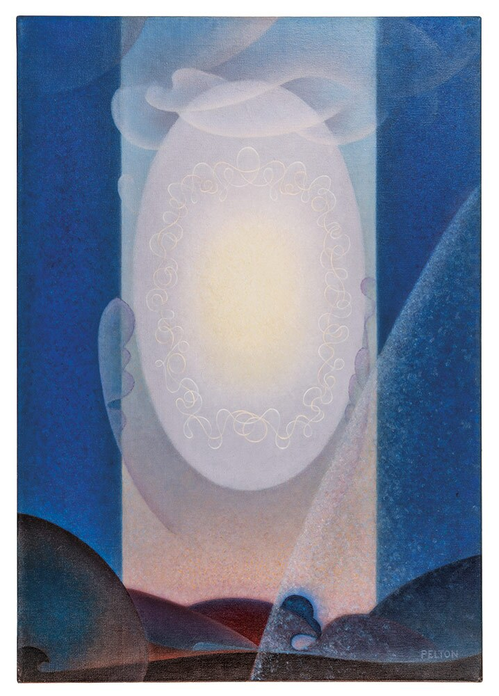 "Agnes Pelton, ""Light Center,"" 1947-1948. Oil on canvas. 