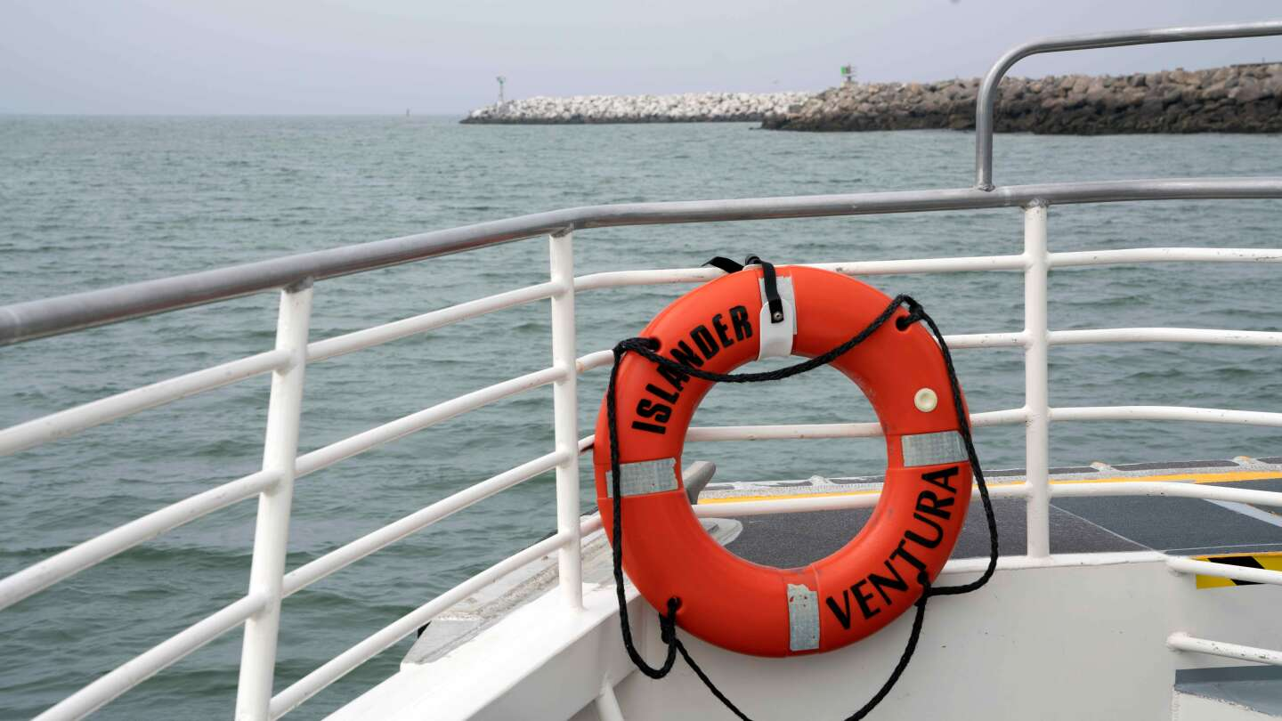 Aboard the Island Packers Ferry as it travels from Ventura to Anacapa Island