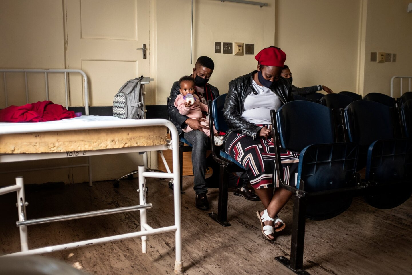 Patients await assistance at the Reivilo Health Centre in Reivilo on September 4, 2020. | Thomson Reuters Foundation/Gulshan Khan
