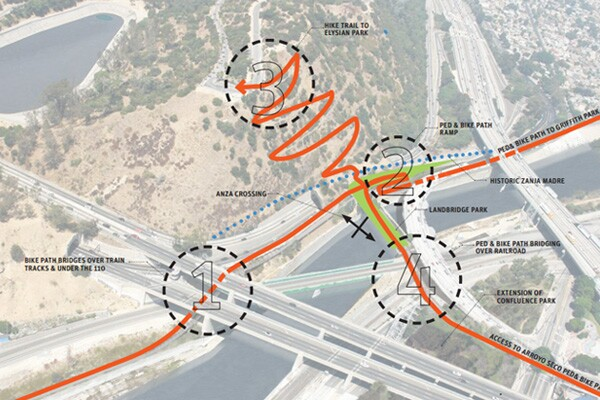 How the bridge park would connect to nearby attractions