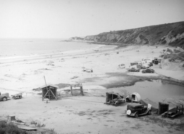 Camping in Dana Point, ca. 1938 | Herman J. Schultheis Collection, Los Angeles Public Library