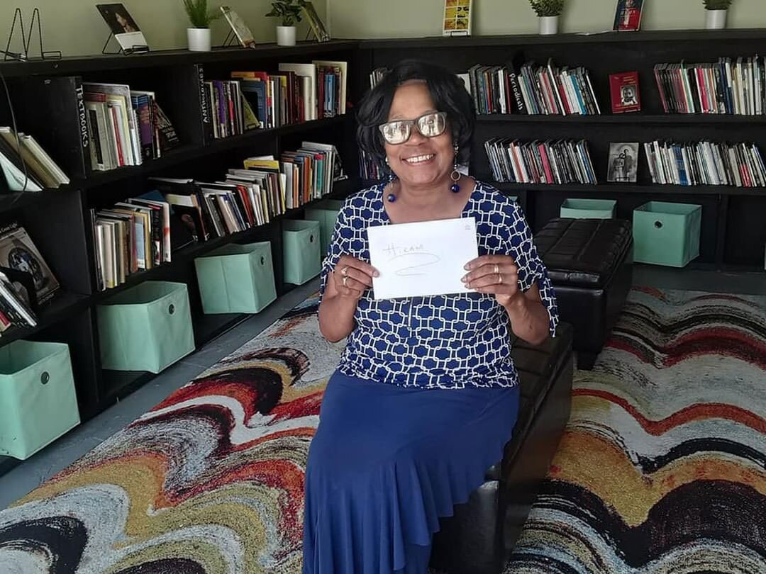 Gwen Sims donated money for 100 books of poetry for the Sims Library of Poetry | Courtesy of Sims Library