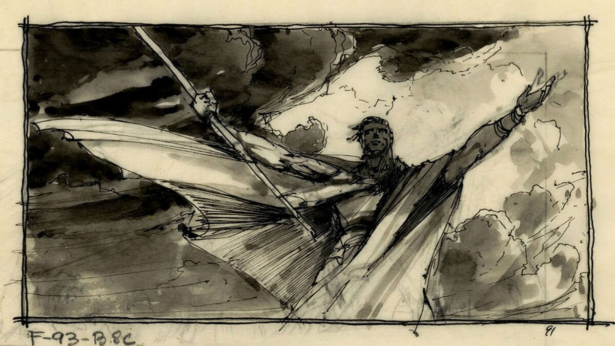 """Harold's storyboard of the """"Ten Commandments"""" comes to life 