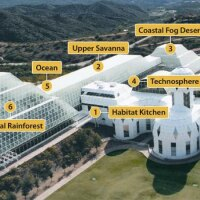 Biosphere 2, with legend | Image: Biosphere 2 Organization