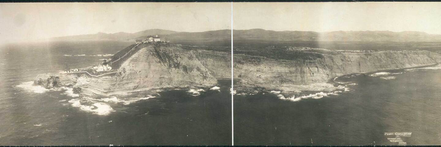 Gelatin silver photograph of Point Conception circa 1906. | Geo. R. Lawrence Co. via Library of Congress