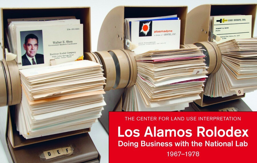"Cover of ""Los Alamos Rolodex: Doing Business with the National Lab, 1967-1978,"" published by Blast Books. 