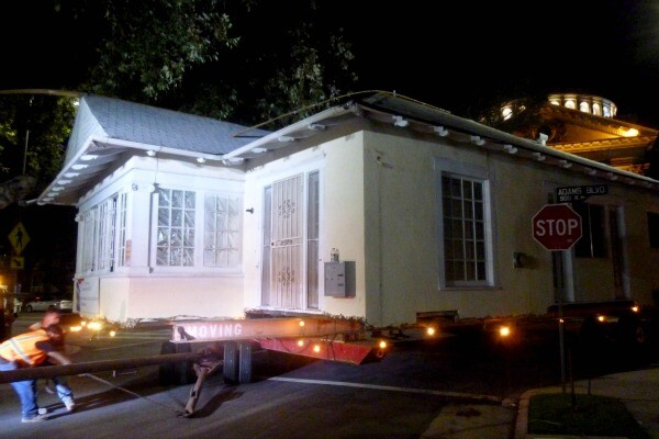 One of two Victorian houses being moved from West Adams to University Park / All photos: Sandi Hemmerlein