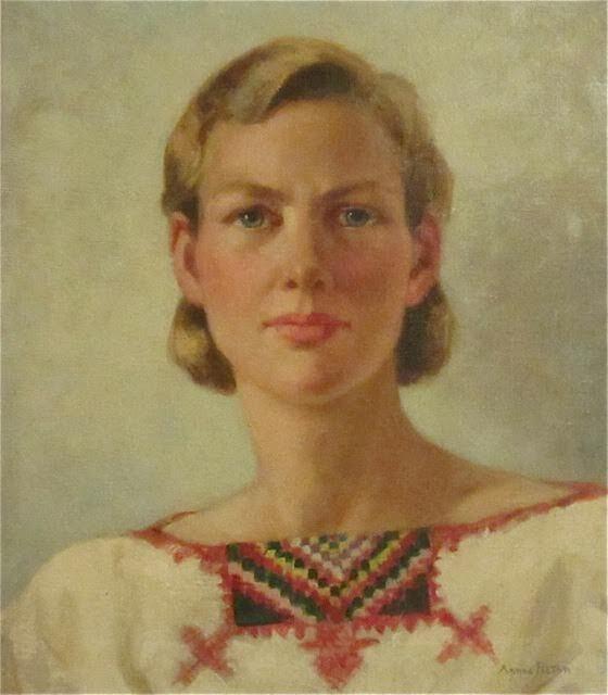 Agnes Pelton's portrait of her neighbor, Christina Lillian | Courtesy of Ann Brownlee