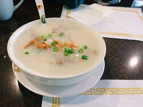 Pork and preserved egg congee at Delicious Food Corner | Photo by Clarissa Wei