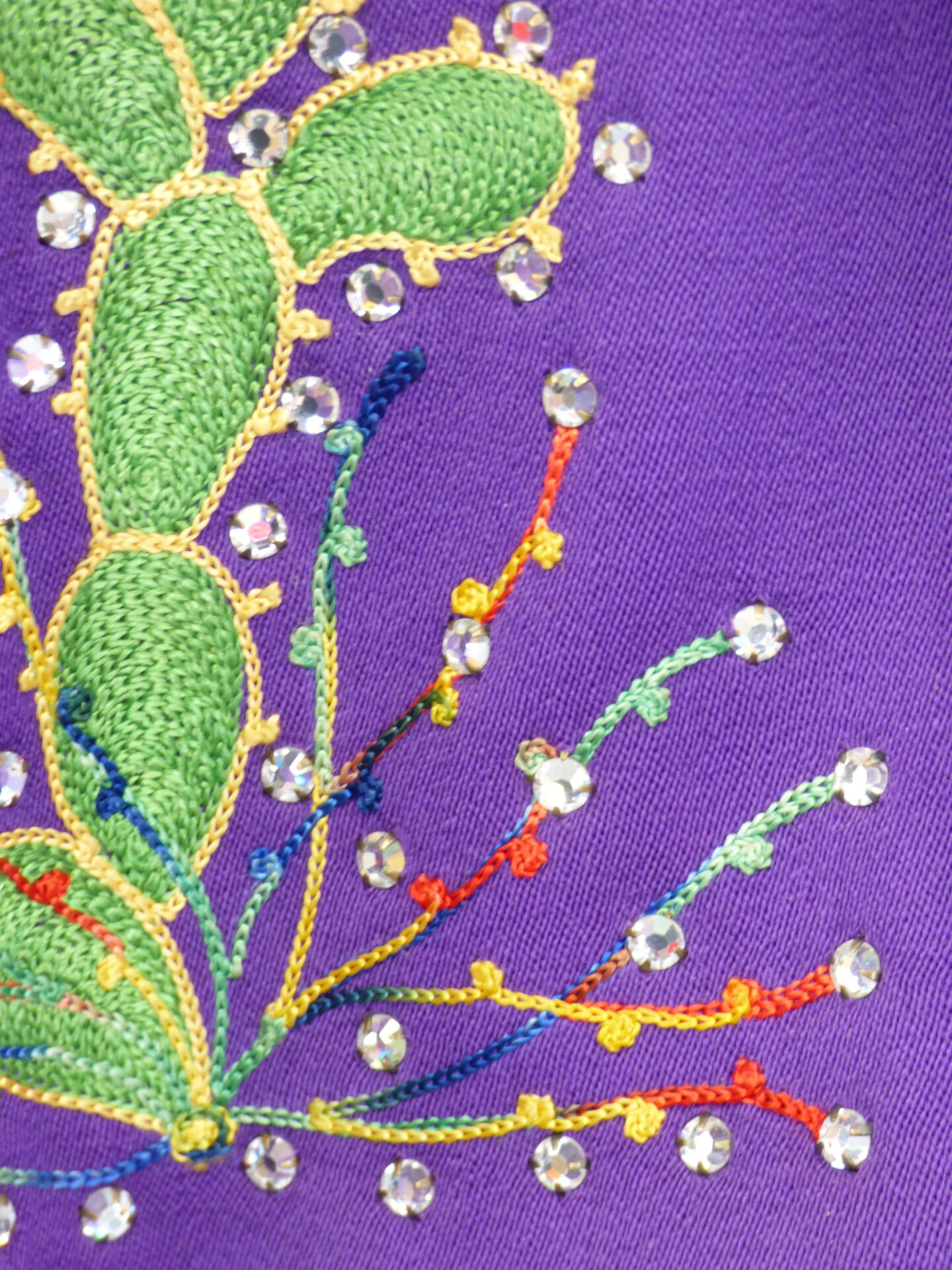 A detail of a Nudie suit showing embroidery on a cactus | Carren Jao