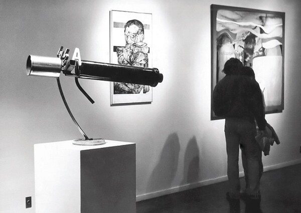 Interior of Brockman Gallery, unnamed John Riddle sculpture and <em>Portrait of Paul Robeson</em>, by John Scott | Photo: Courtesy of Brockman Gallery Archive