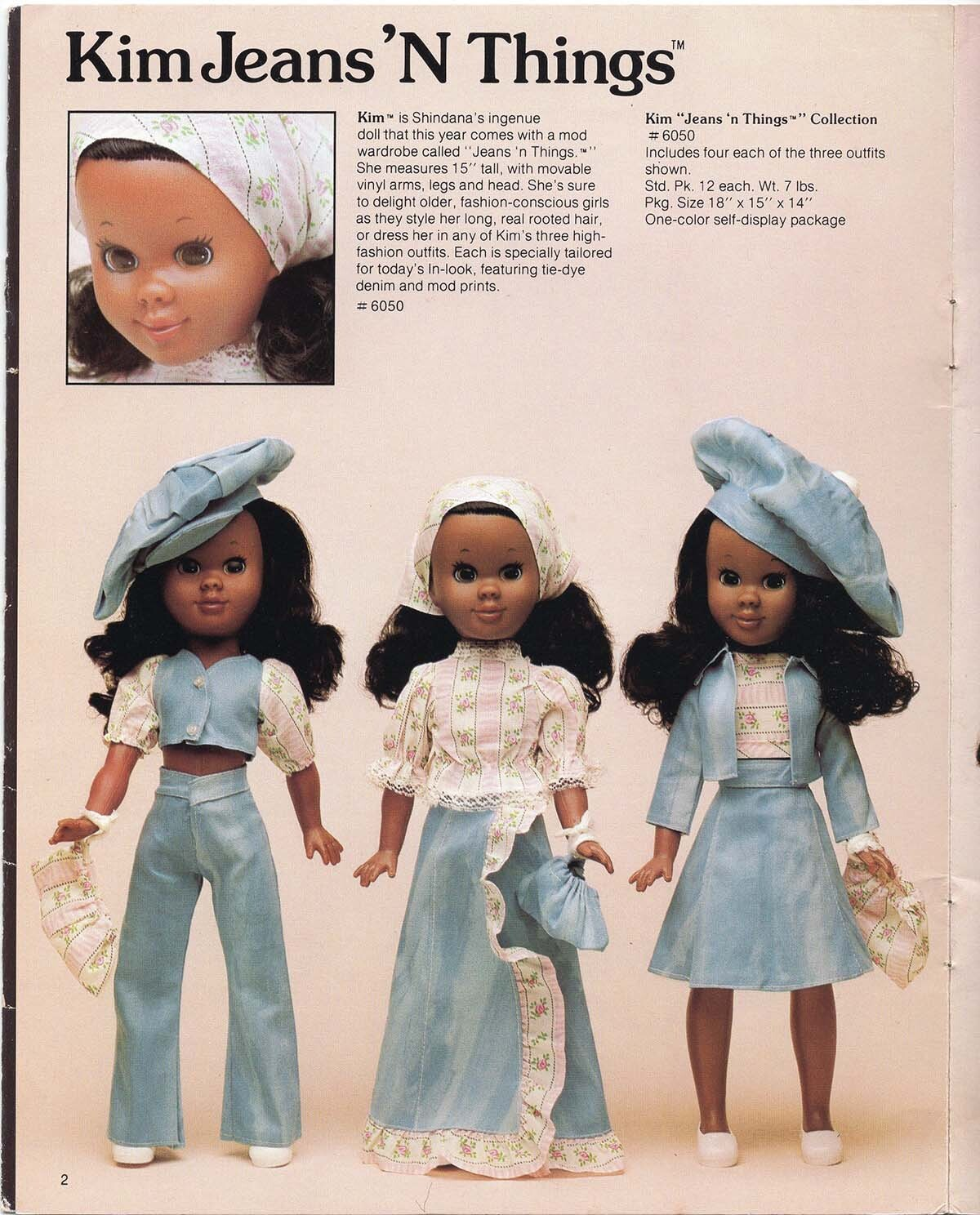 Kim Jeans 'N Things collection from Shindana Toys features long, real rooted hair and fashionable outfits    Courtesy of Billie Green