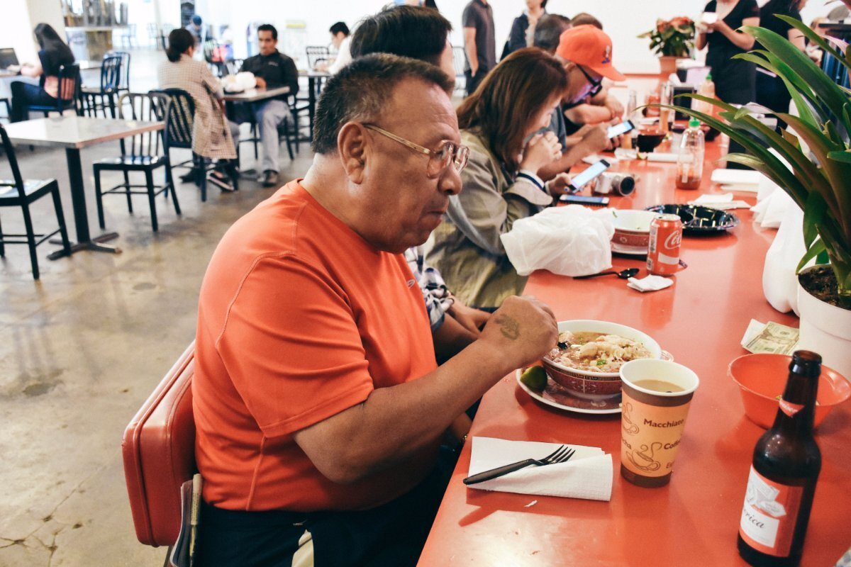 Customers at China Cafe in Grand Central Market | Clarissa Wei