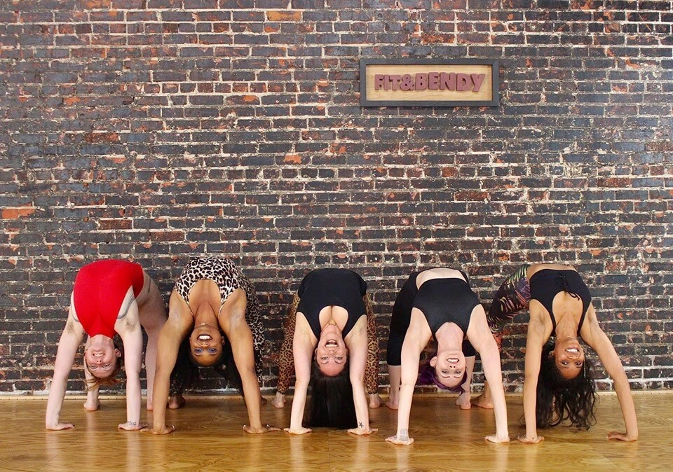Women in bridge pose | Courtesy of Fit and Bendy Studio