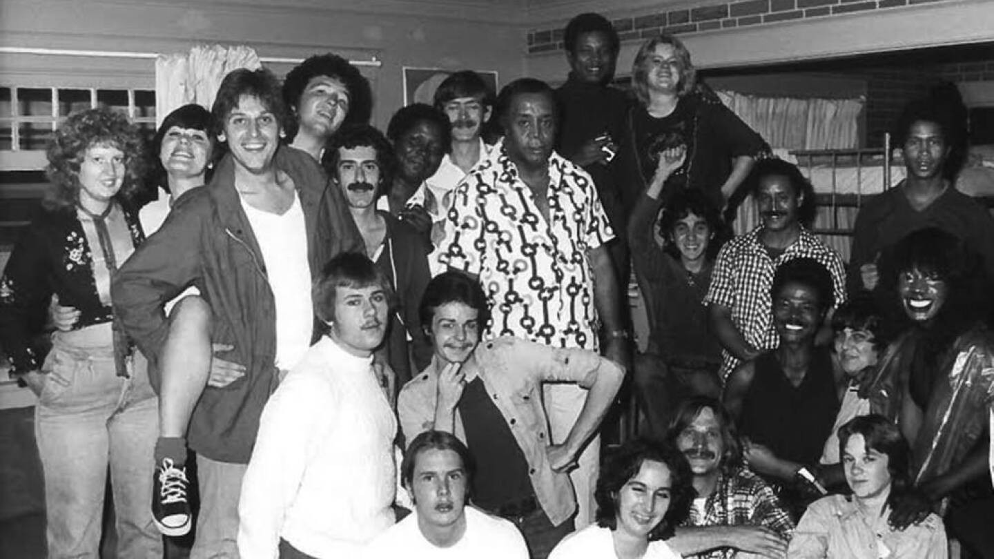 Hudson House residents, 1982. This photograph captures both the diversity and the emotional impact of the pro- gram. In addition to receiving economic aid, many Hudson House residents remarked on the familial atmosphere of the program. ONE National Lesbia