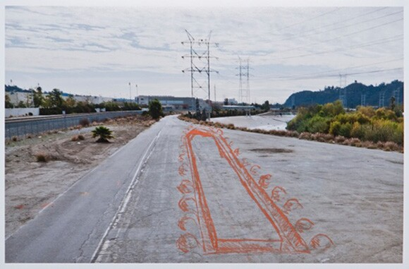 Michael Parker, Bowtie Park with lines sprayed for The Unfinished