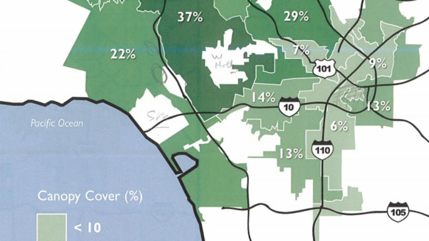 tree canopy cover l.a.