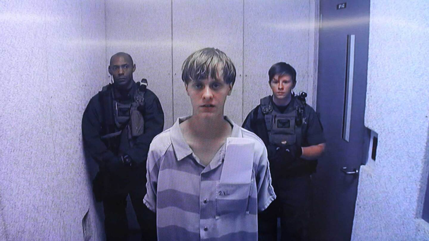 Dylann Roof appears at Centralized Bond Hearing Court June 19, 2015 in North Charleston, South Carolina. | Grace Beahm-Pool/Getty Images