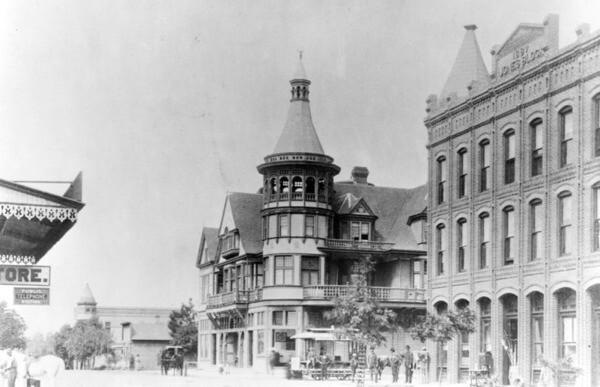 Alhambra Hotel on Main Street, 1890 | Courtesy of the Los Angeles Public Library