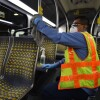 L.A. Metro officials say staff is continuing to clean and disinfect all its buses and trains once a day, which happens overnight at their respective divisions. | Courtesy Los Angeles Metro