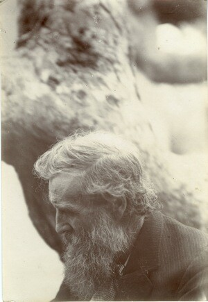 This profile portrait of John Muir comes from the Charles Lummis Photograph collection located in Special Collections, Honnold/Mudd Library at The Claremont Colleges.It is an albumen print, was photographed in an unknown location and is undated.
