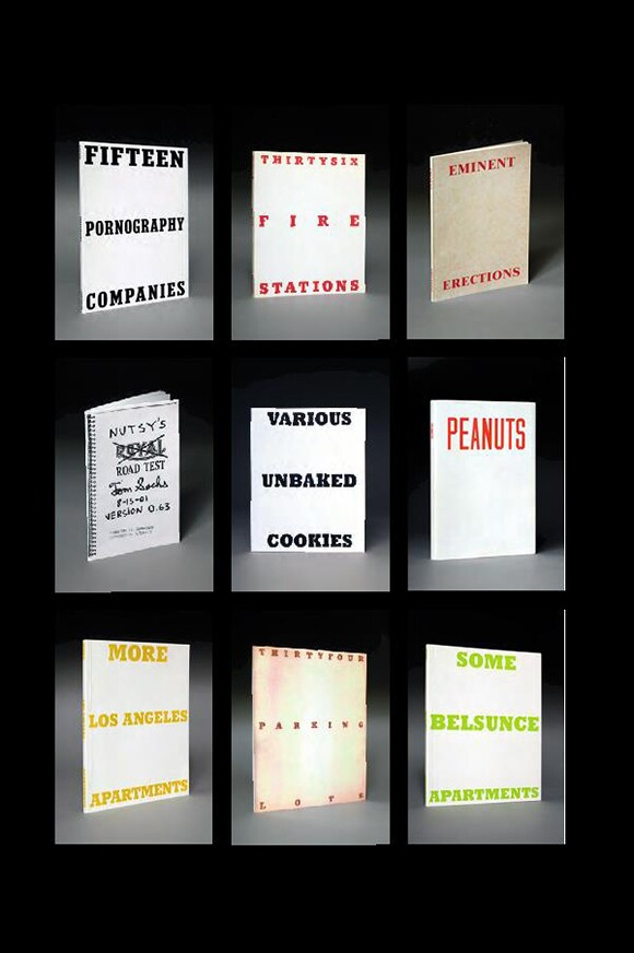 "A selection of artist books inspired by Ruscha from ""Various Small Books,"" MIT Press, 2013. 