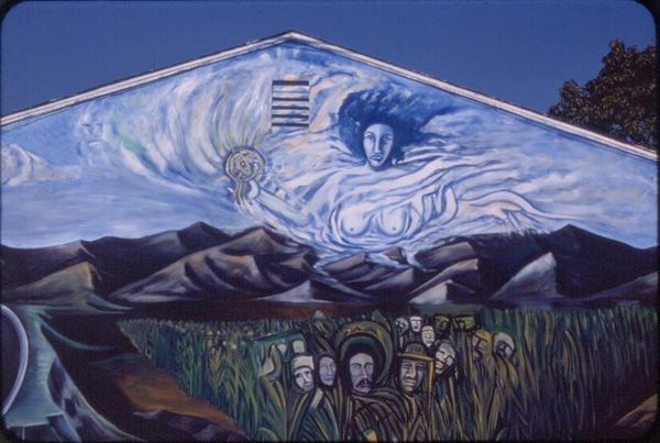 Mural by Ismael Smiley Cazarez in El Monte (1976) | Courtesy Ismael Smiley Cazarez