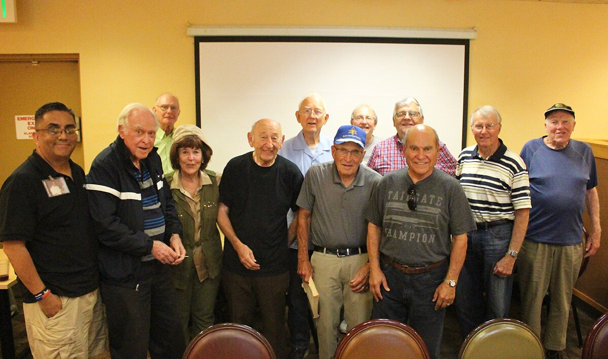 The group at the Home Town Buffet luncheon. | Jean Trinh