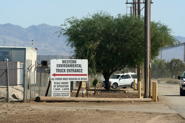 Western Environmental, Inc's Mecca facility, shuttered by the EPA this week | photo by Chris Clarke