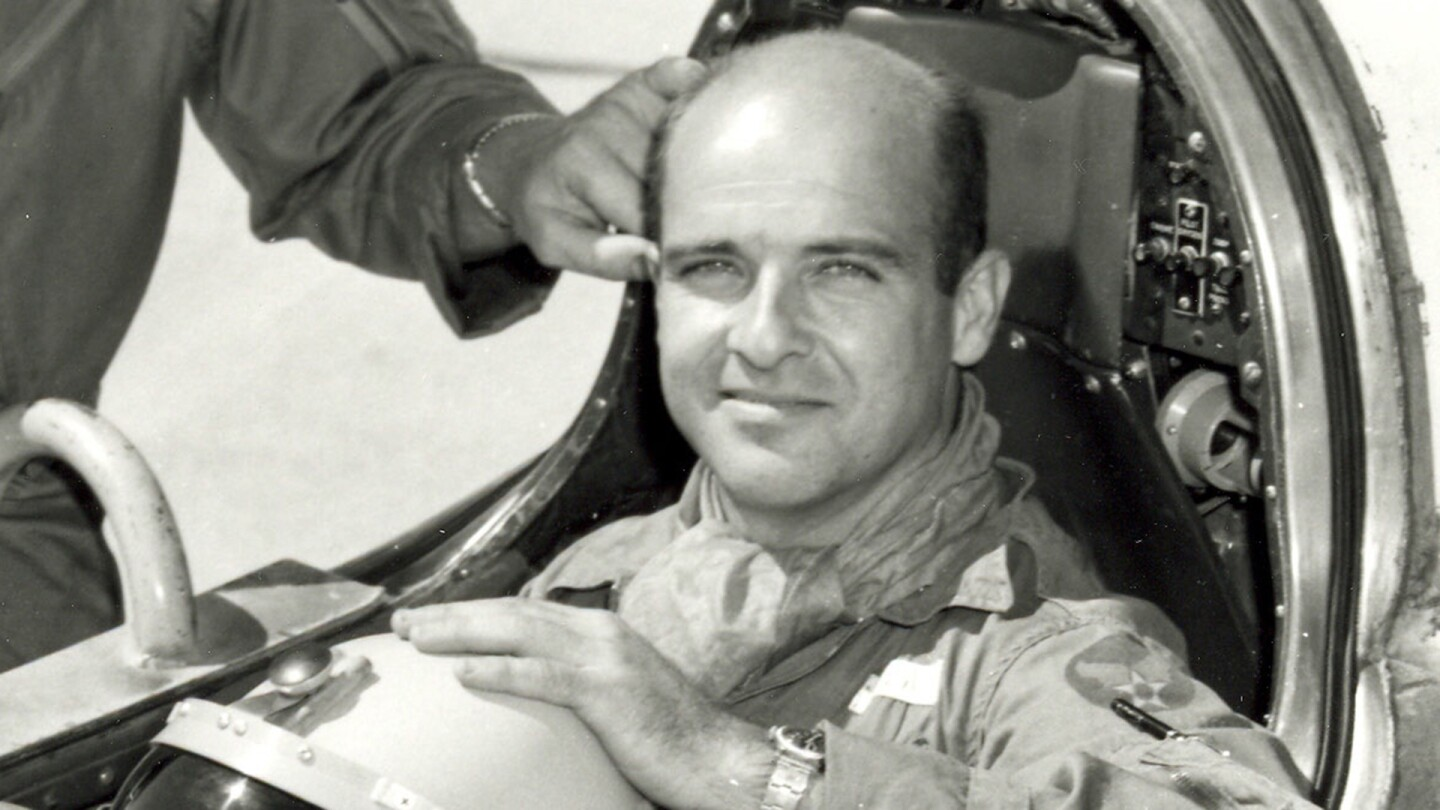 Captain Mel Apt in the cockpit of the Bell X-2 rocket-powered aircraft. | Wikimedia Commons/ United States Air Force