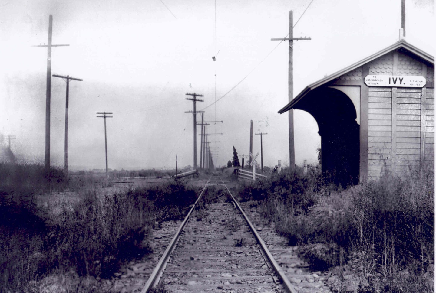 Named after the Ivy Park housing development, the Ivy station stop along the Santa Monica Air Line served present-day Culver City. Courtesy of the Metro Transportation Library and Archive. Used under a Creative Commons license.