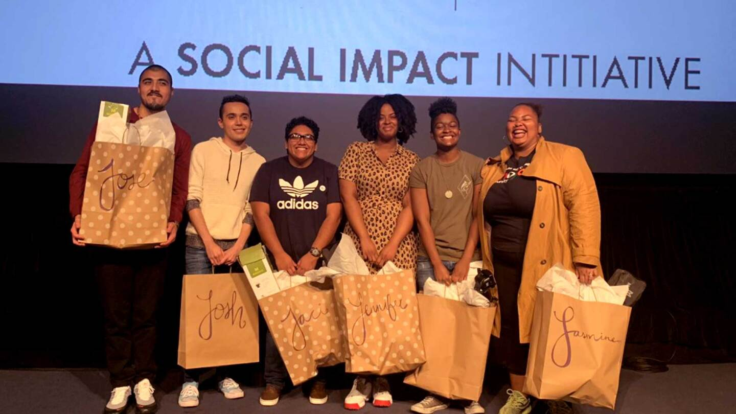 Youth Voices filmmakers onstage. | Anna Bitong