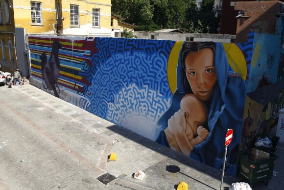 Completed mural in Istanbul by Levi Ponce and Kristy Sandoval.   Photo: Mehmet Naci Demirkol.