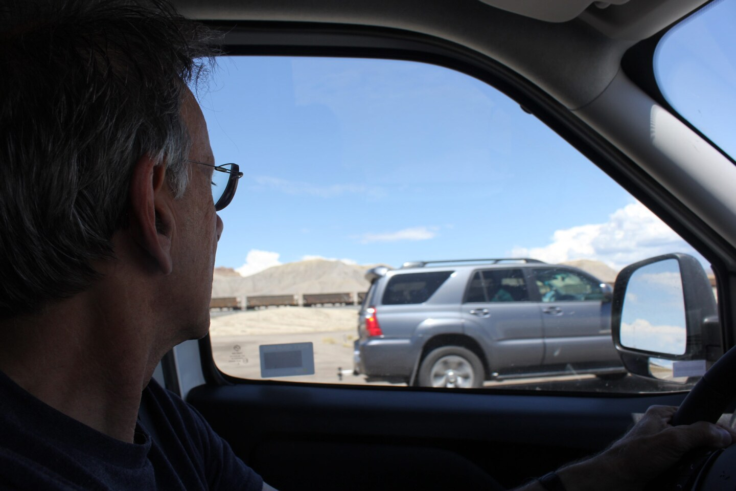 Caravello's father, on a road trip from Chicago to Los Angeles. | Courtesy Jenna Caravello