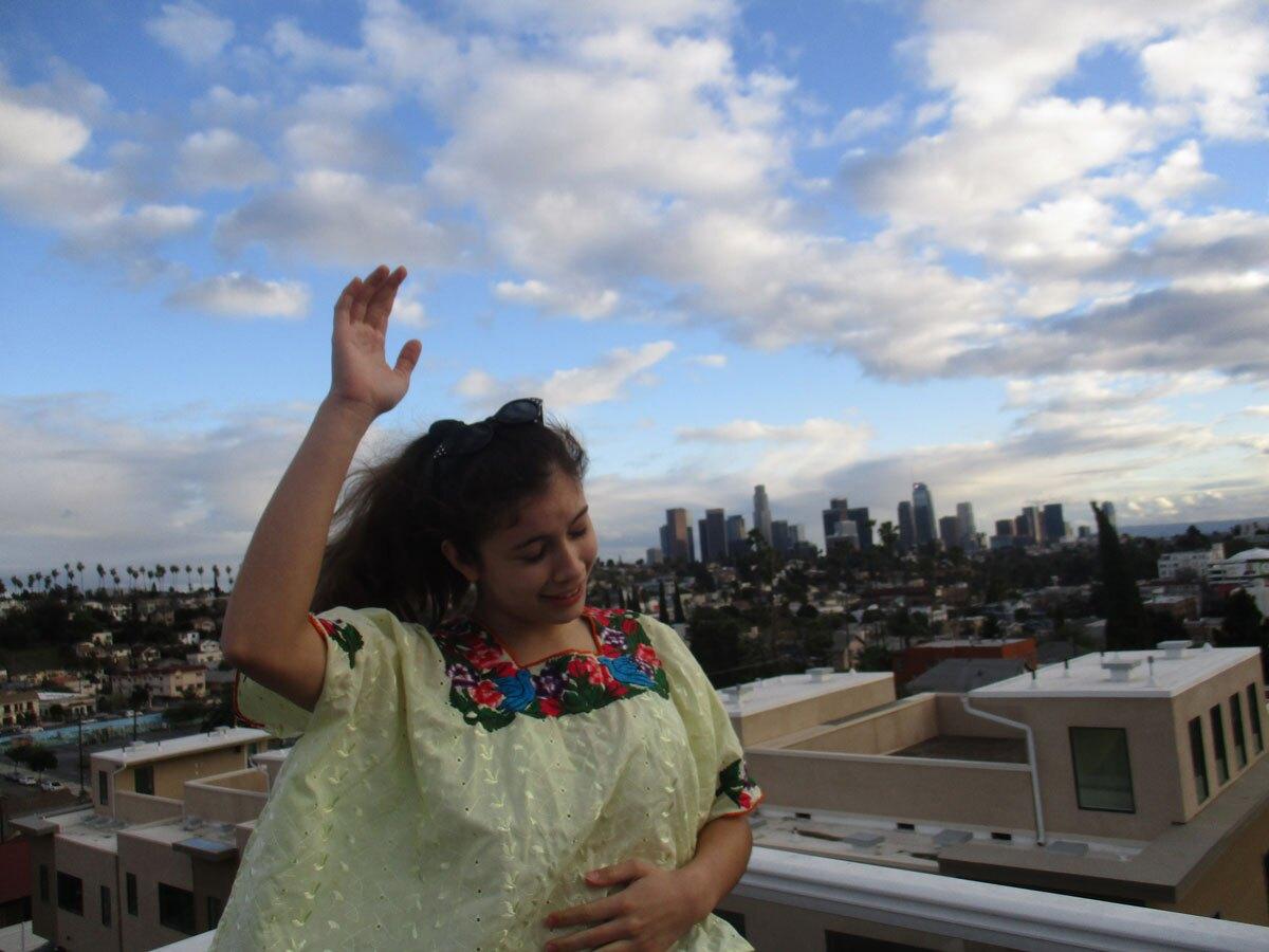 "Mina Tikal Alvarado-Goldberg, age 14  ""My maternal grandmother Martha was born in the city with roots from Guanagazapa/Escuintla, San Marcos and San Jose Pinula. | Mayan Alvarado-Gold / Courtesy of Las Fotos Project"