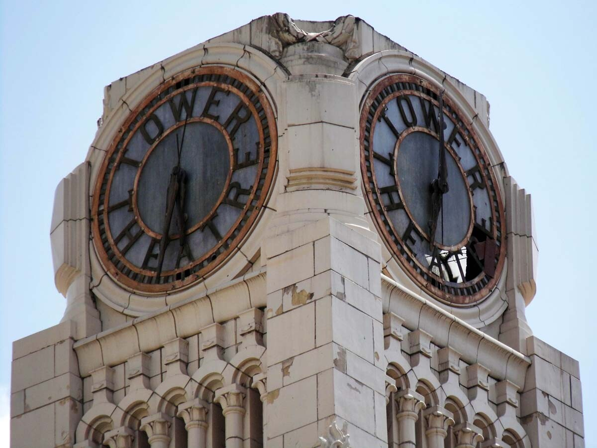 The Tower Theatre's working clock tower. | Sandi Hemmerlein