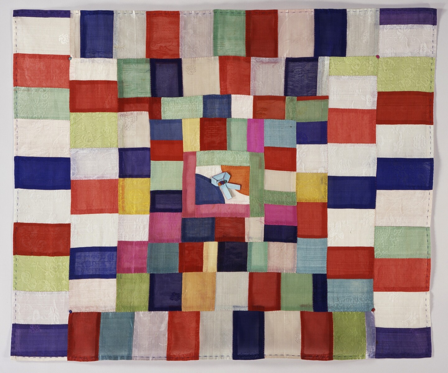 Wrapping Cloth (Bojagi), Korea, Joseon dynasty (1392-1910), late 19th-early 20th century, silk gauze with plain-weave and weft-float patterning patchwork