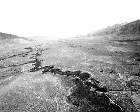 Owens River Valley at 400', 1700 hours, Bishop California, June 2001. | Photo: Michael Light. Courtesy of Michael Light and Hosfelt Gallery