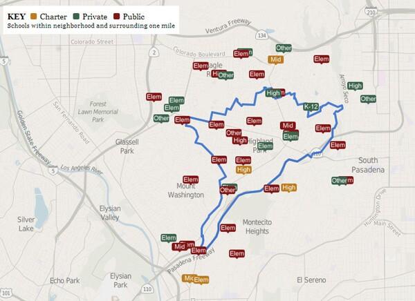 Schools in Northeast L.A. | L.A. Times, Mapping L.A.