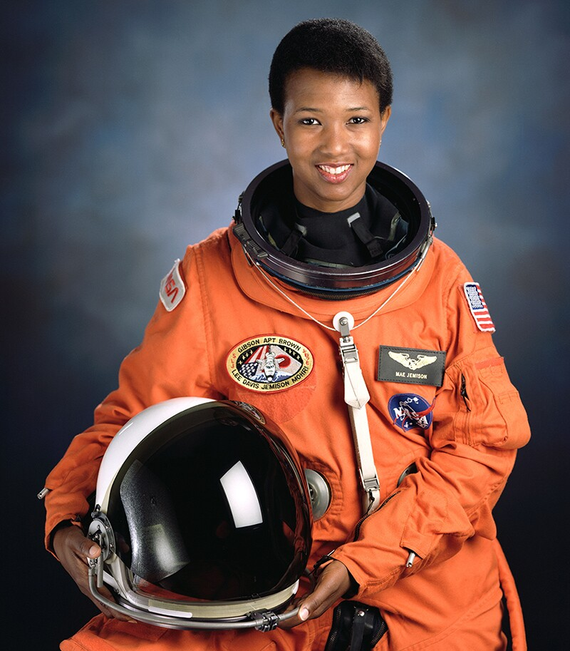 Astronaut Mae C. Jemison, M.D., mission specialist, in July 1992. | Flickr/NASA APPEL Knowledge Services/Creative Commons