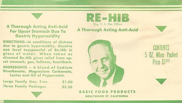 Original RE-HIB label.   Courtesy of the MDHCA.