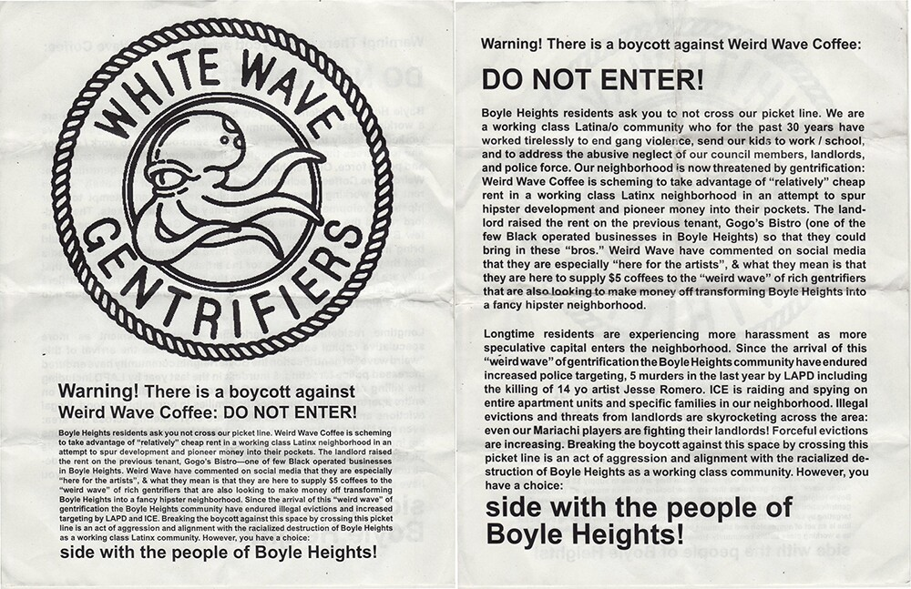 Defend Boyle Heights Flyer Pages 1 and 2