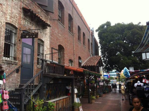 The back of Italian Hall on Olvera Street